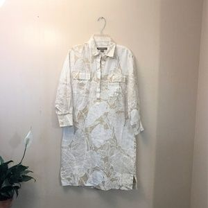 Tommy Bahama Tropical Print Linen Shirt Dress🎈🎈